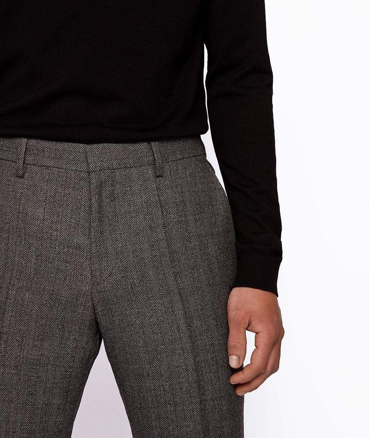 Genius5 Slim-Fit Herringbone Dress Pants image 3