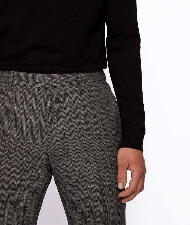 Genius5 Slim-Fit Herringbone Dress Pants picture 4