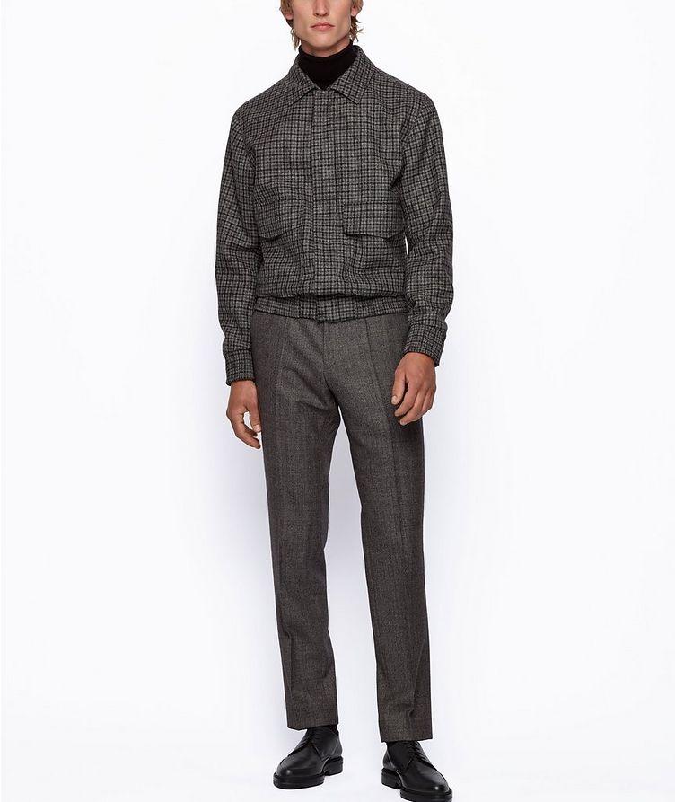 Genius5 Slim-Fit Herringbone Dress Pants image 4