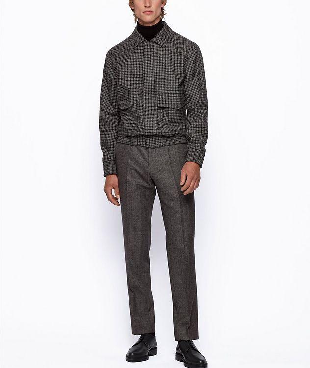 Genius5 Slim-Fit Herringbone Dress Pants picture 5