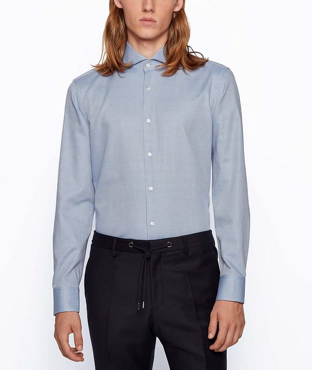 Slim-Fit Two-Tone Dress Shirt picture 2