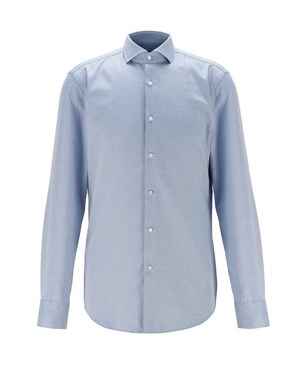 Slim-Fit Two-Tone Dress Shirt picture 1