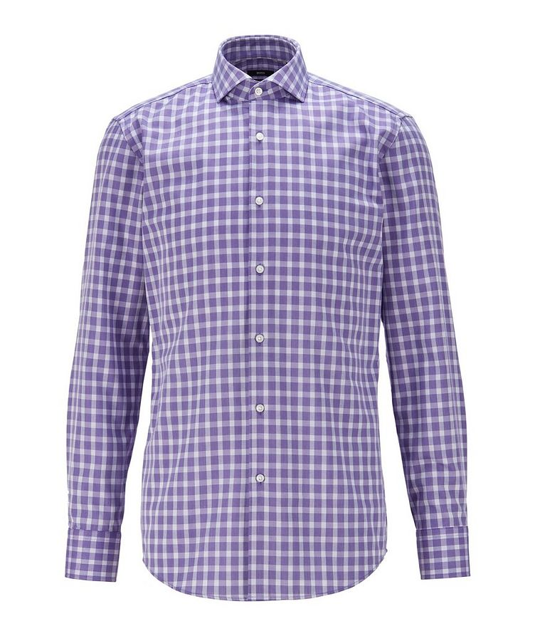 Slim-Fit Gingham Dress Shirt image 0