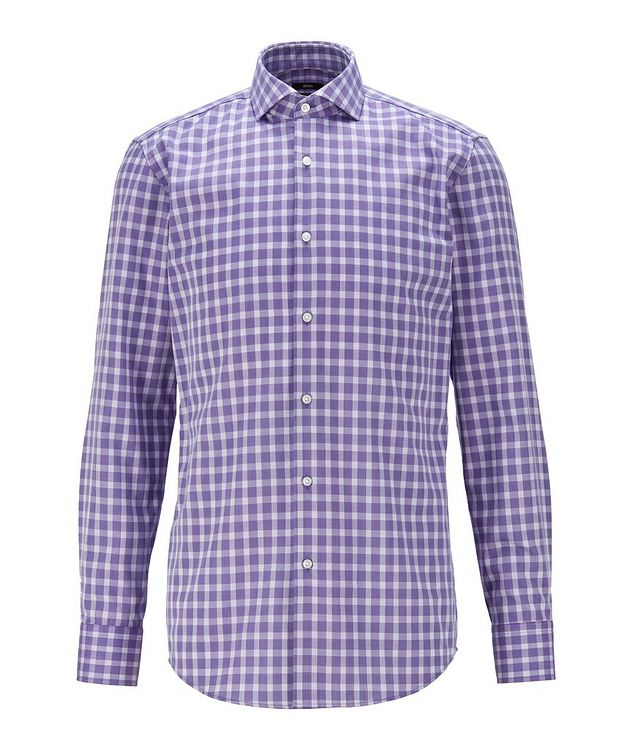 Slim-Fit Gingham Dress Shirt picture 1