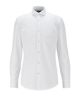 BOSS Chemise habillée en tissu performance de coupe amincie