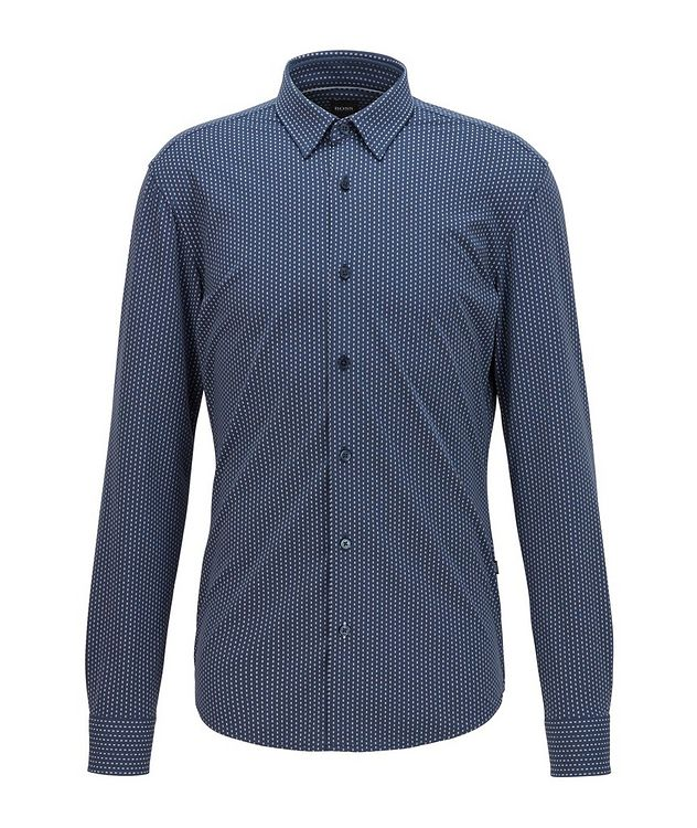 Slim-Fit Printed Jersey Shirt picture 1