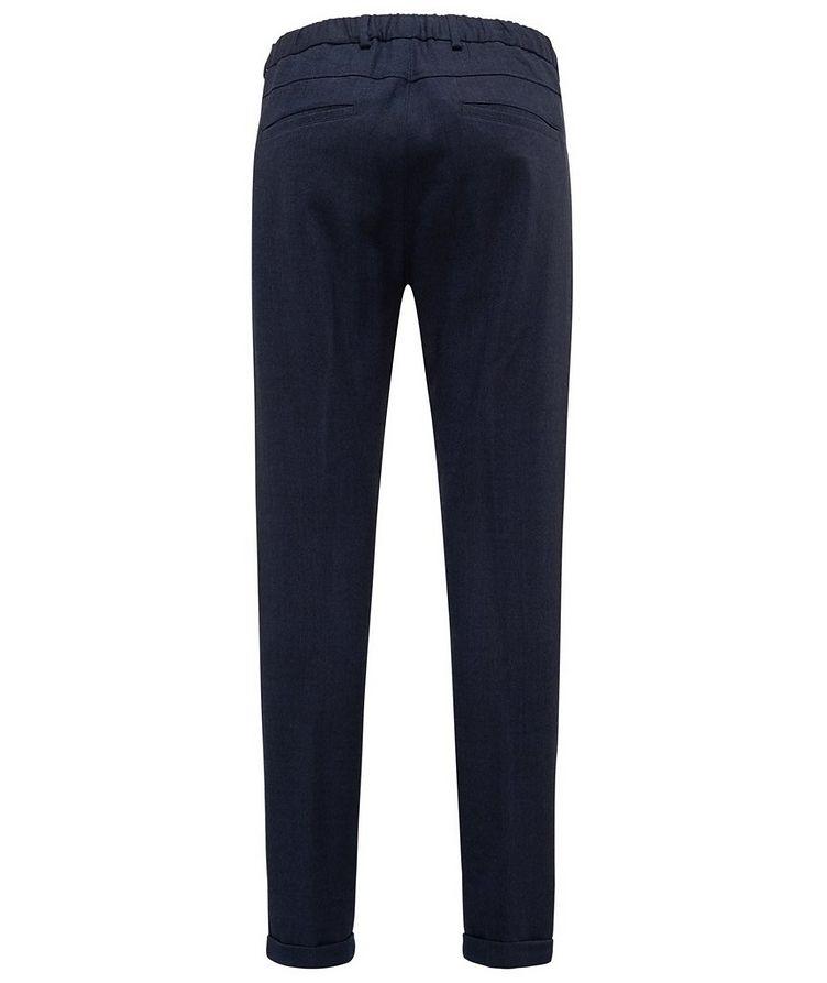 Stretch-Wool Drawstring Pants image 1