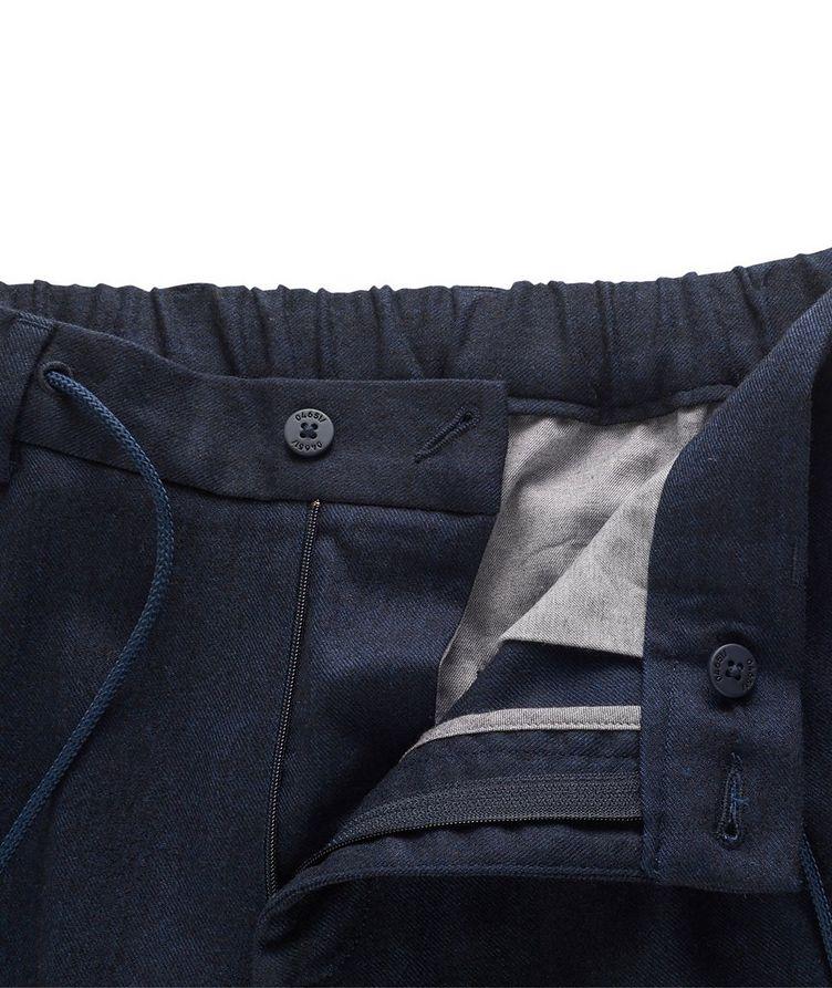Stretch-Wool Drawstring Pants image 3