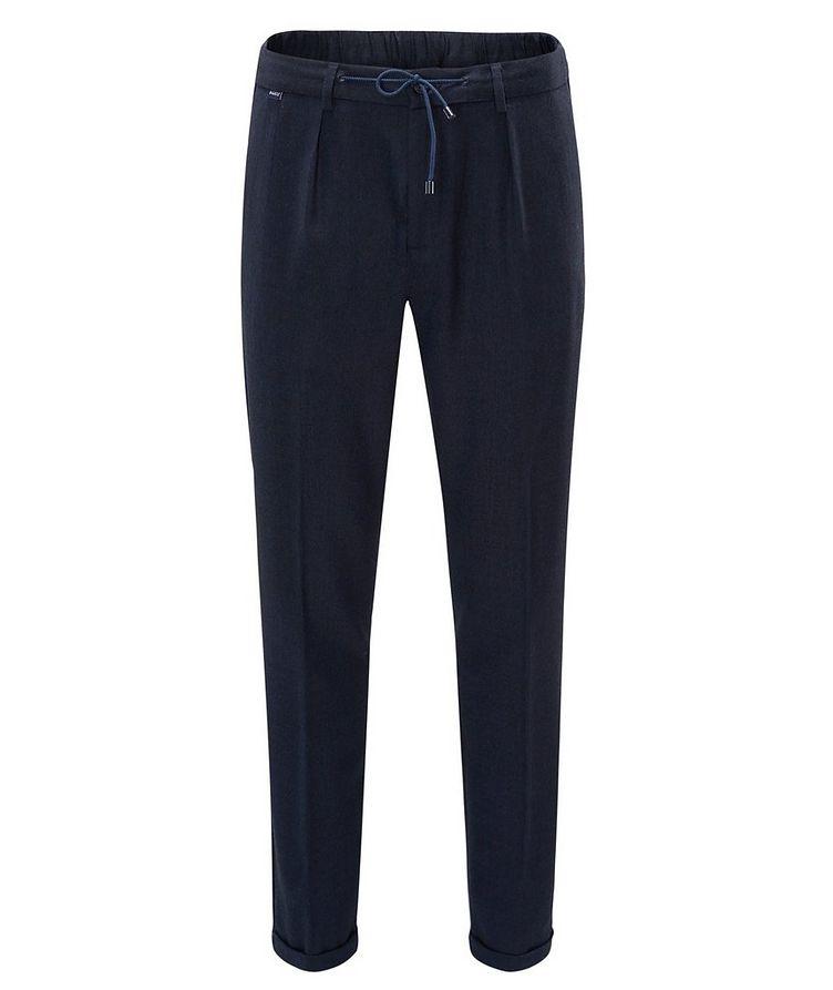 Stretch-Wool Drawstring Pants image 0