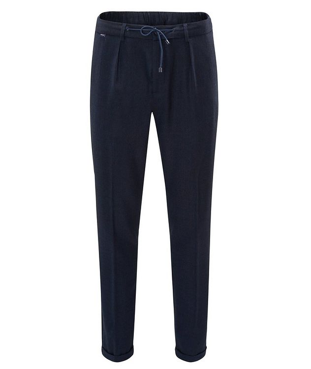 Stretch-Wool Drawstring Pants picture 1