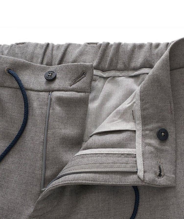 Pantalon en laine extensible à cordon image 3