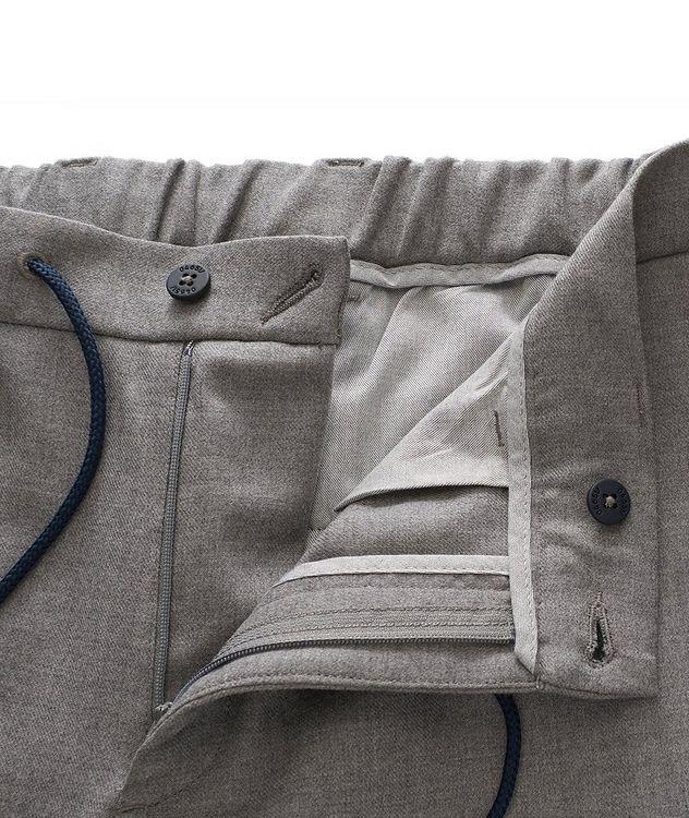 Pantalon en laine extensible à cordon picture 4
