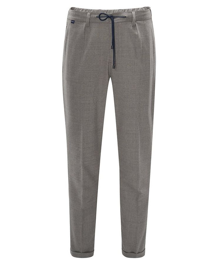 Stretch-Wool Drawstring Pants image 0
