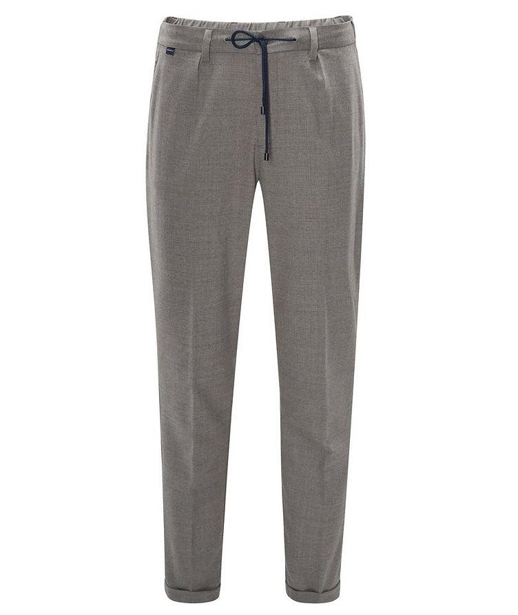 Pantalon en laine extensible à cordon image 0