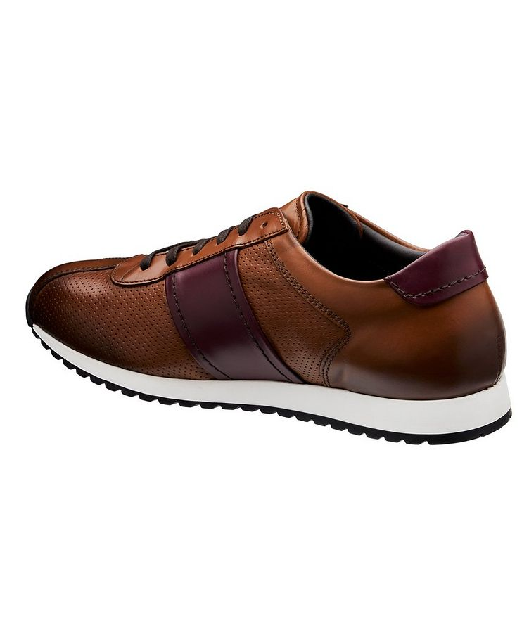 Perforated Leather Sneakers image 1