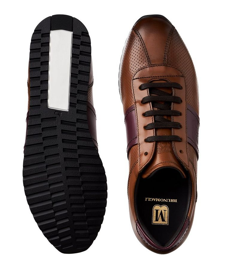 Perforated Leather Sneakers image 2