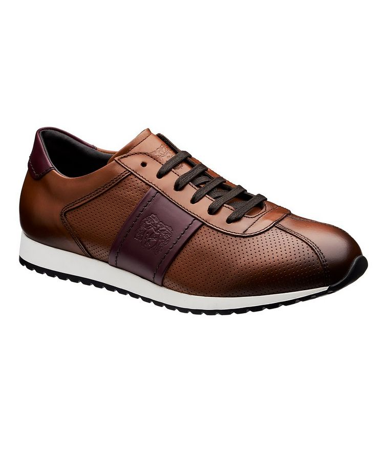 Perforated Leather Sneakers image 0