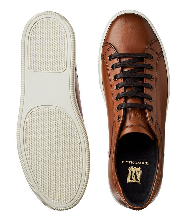 Burnished Leather Sneakers image 2