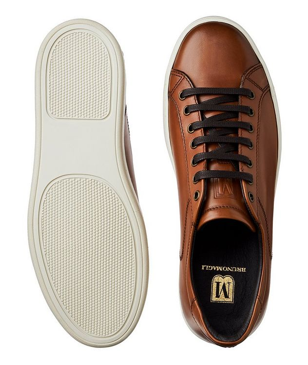 Burnished Leather Sneakers picture 3