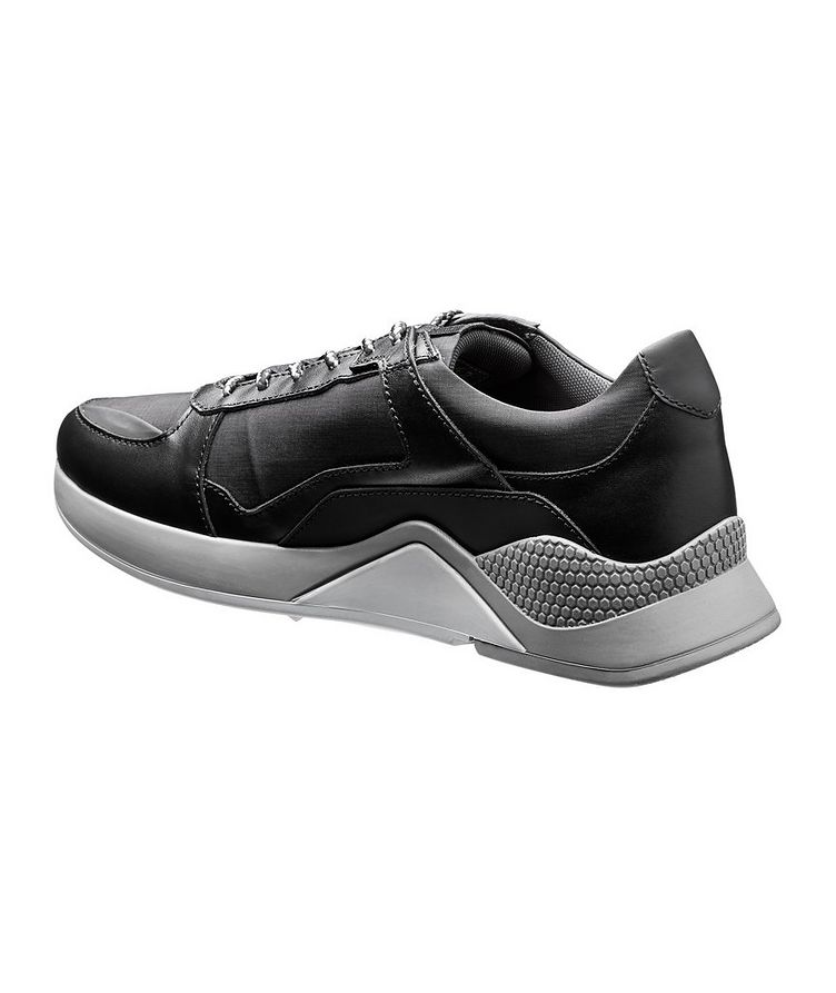 Leather and Nylon Sneakers image 1
