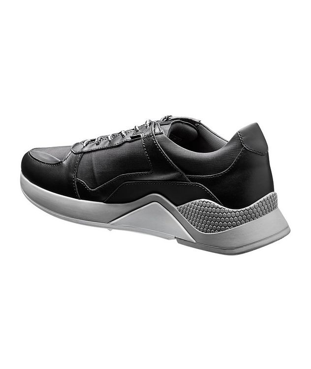 Leather and Nylon Sneakers picture 2
