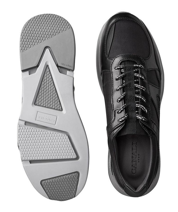 Leather and Nylon Sneakers image 2