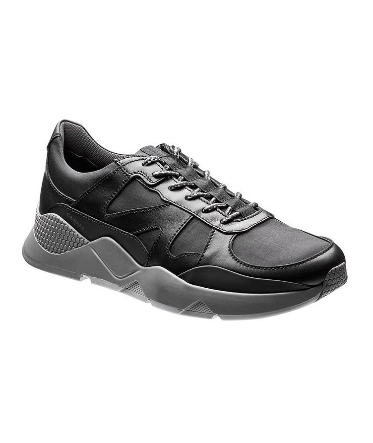 Leather and Nylon Sneakers image 0