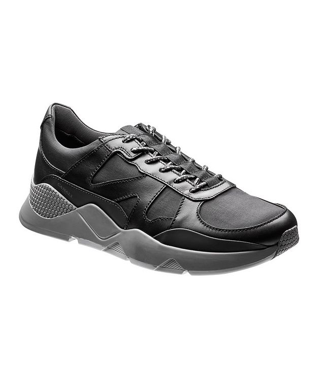 Leather and Nylon Sneakers picture 1