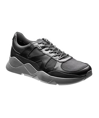 Canali Chaussure sport en cuir et nylon