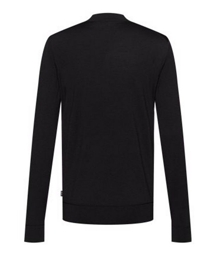 Virgin Wool Mock-Neck Sweater  image 1