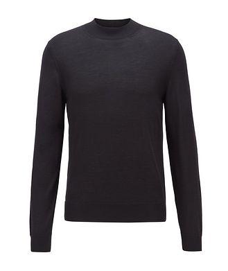 BOSS Virgin Wool Mock-Neck Sweater