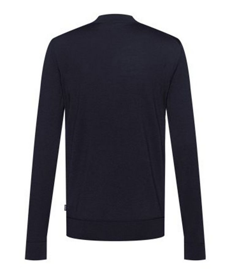 Virgin Wool Mock-Neck Sweater  image 1