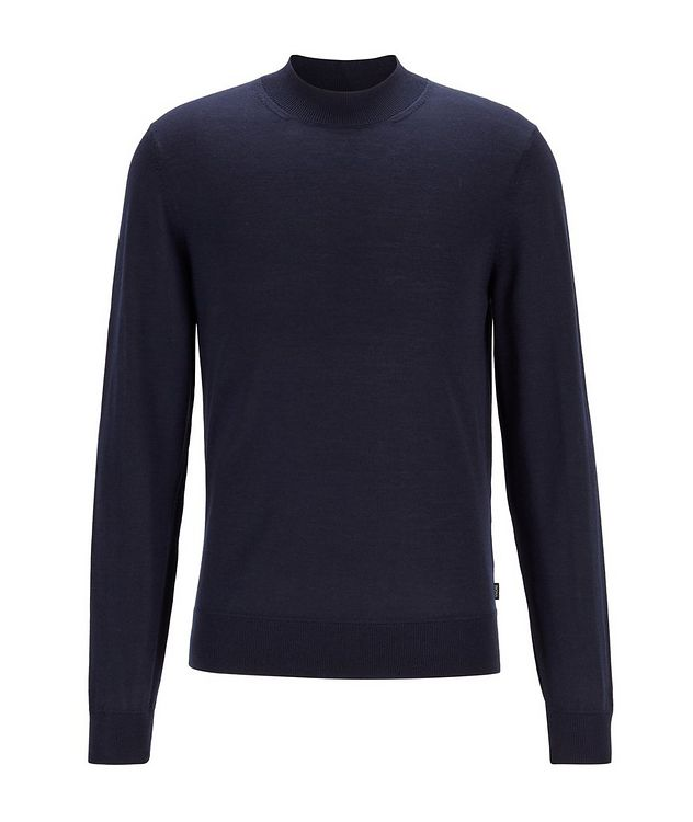 Virgin Wool Mock-Neck Sweater  picture 1