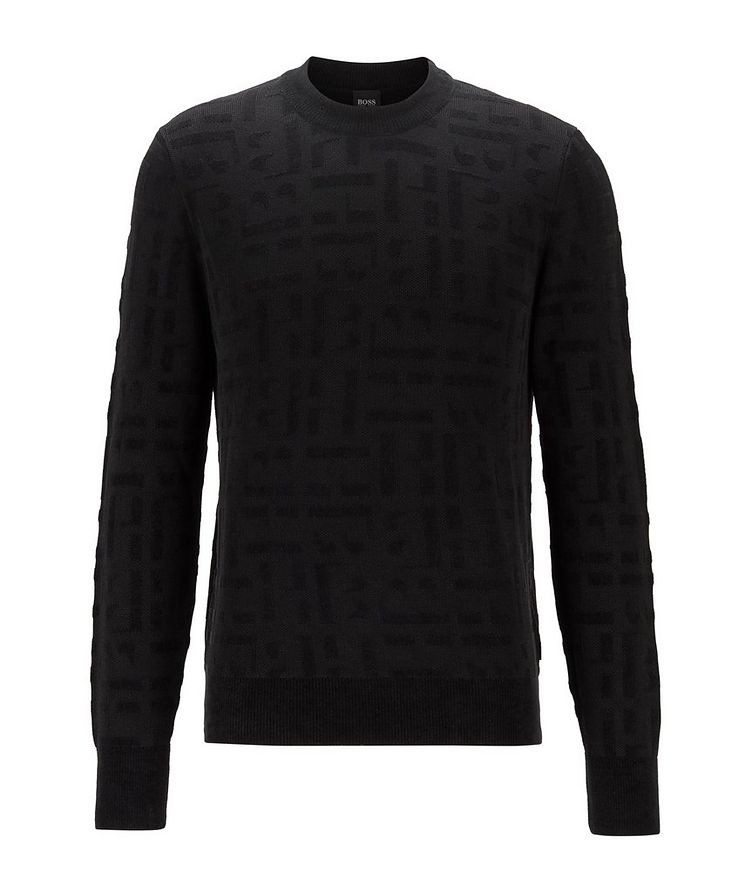 Knit Monogram Sweater image 0