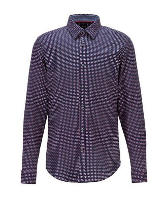 BOSS Contemporary-Fit Printed Cotton Shirt
