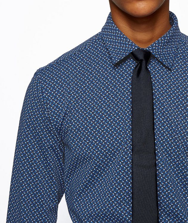 Slim-Fit Printed Cotton Shirt picture 4