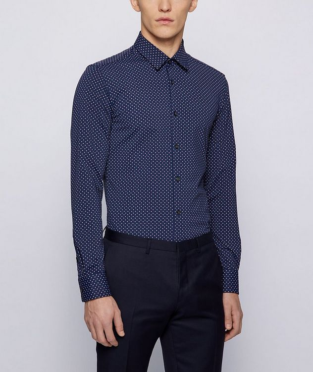 Slim-Fit Printed Cotton Shirt picture 2