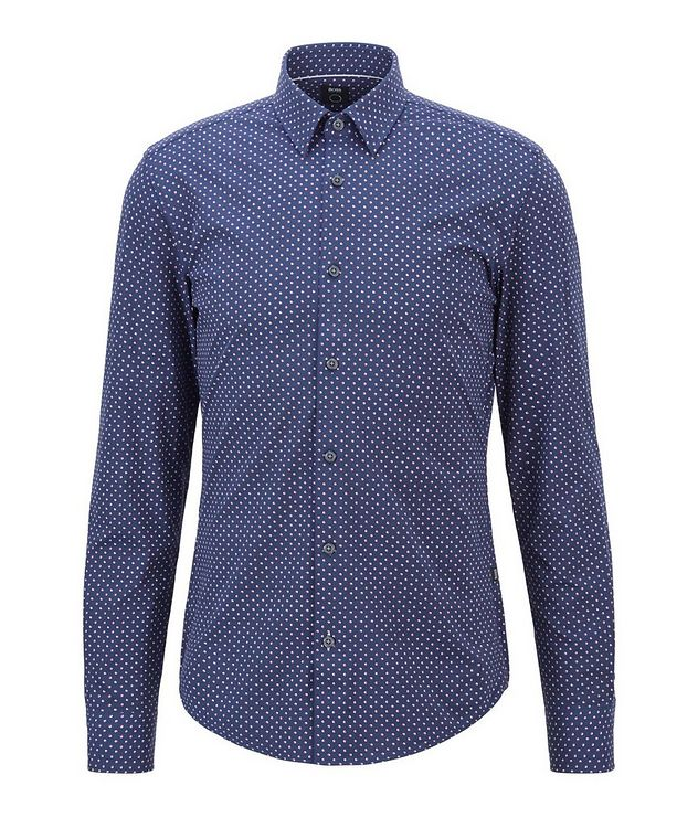 Slim-Fit Printed Cotton Shirt picture 1
