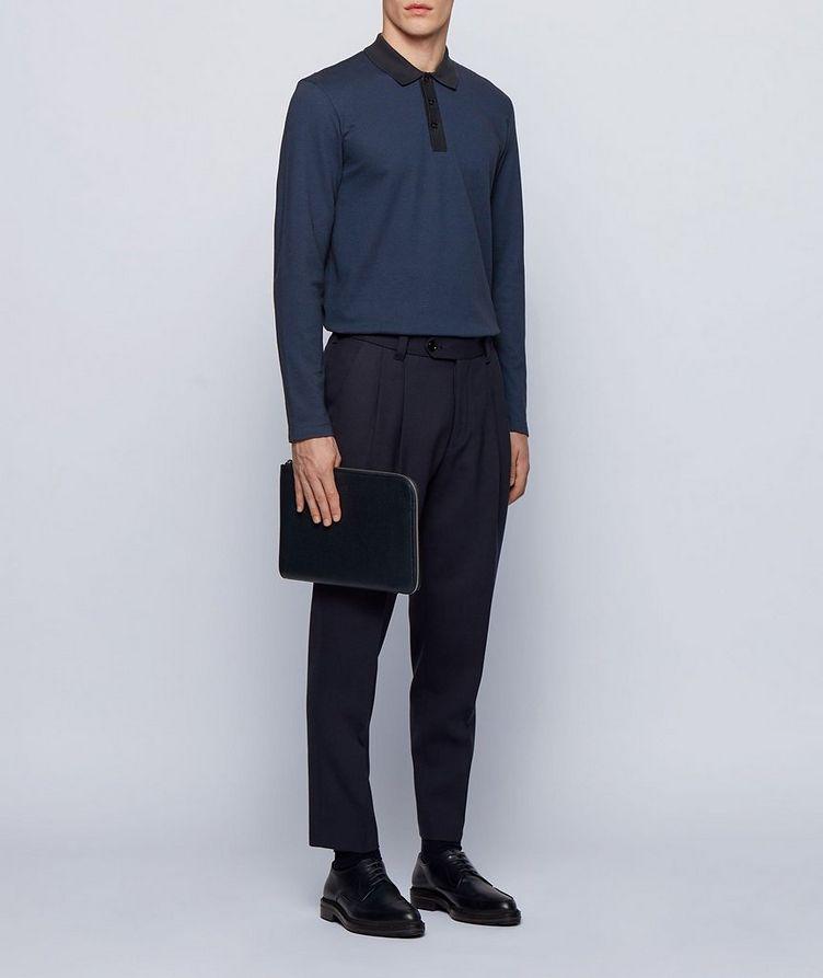 Long-Sleeve Cotton-Blend Polo image 1
