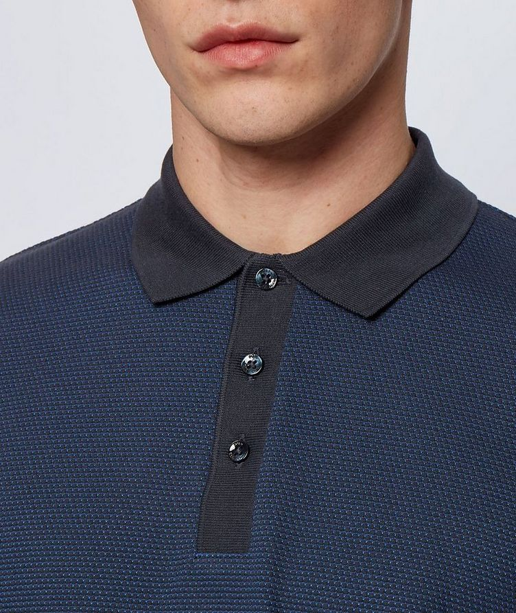 Long-Sleeve Cotton-Blend Polo image 2