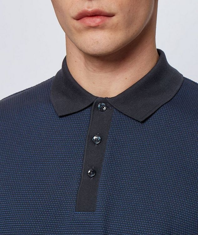Long-Sleeve Cotton-Blend Polo picture 3