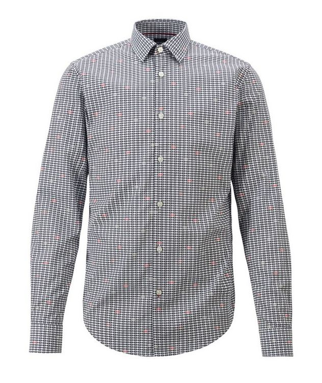 Slim-Fit Music Note-Printed Dress Shirt picture 1