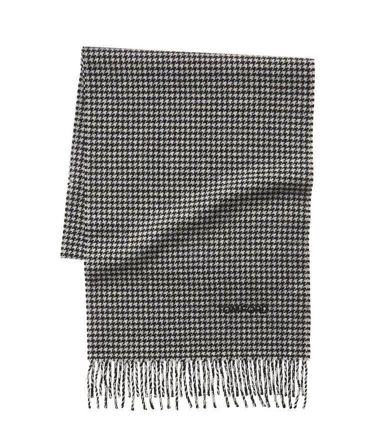 Écharpe en laine et cachemire à pied-de-poule image 0