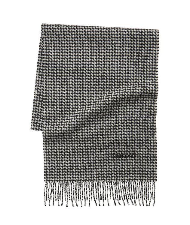 Écharpe en laine et cachemire à pied-de-poule picture 1