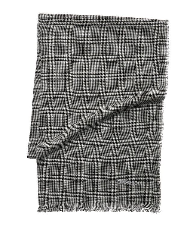 Glen Check Wool Scarf picture 1