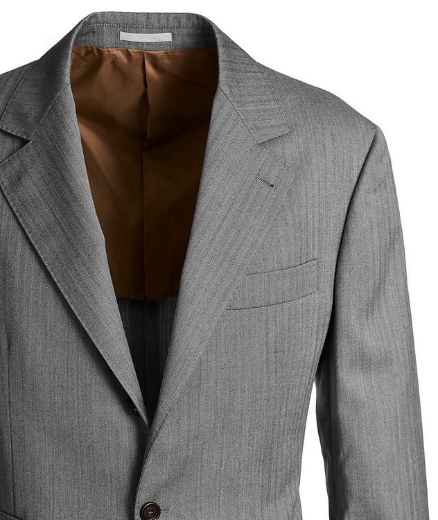 Contemporary Fit Striped Suit picture 2