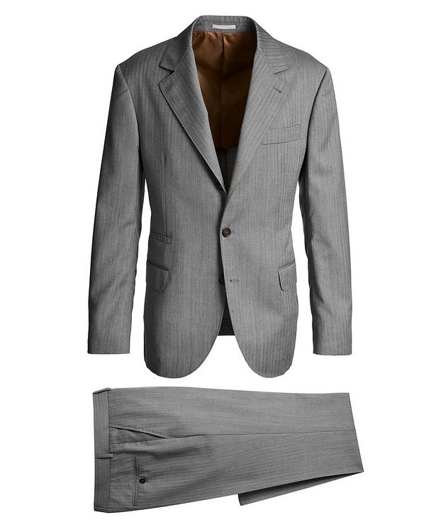 Contemporary Fit Striped Suit picture 1