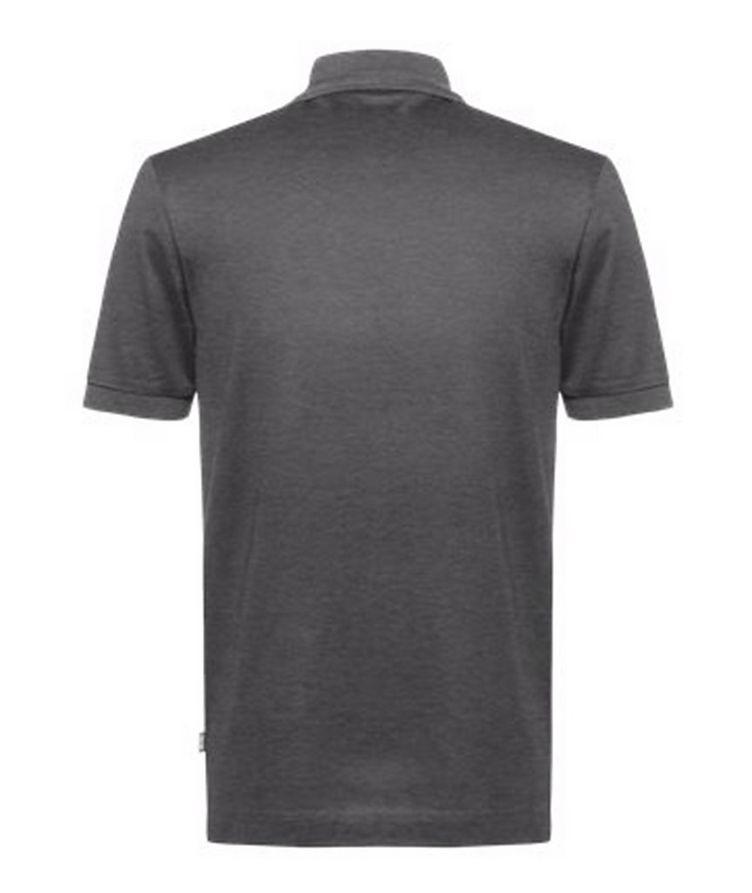 Half-Zip Slim Fit Cotton Polo image 1