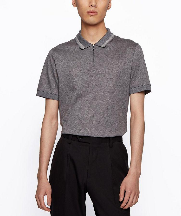 Half-Zip Slim Fit Cotton Polo image 2