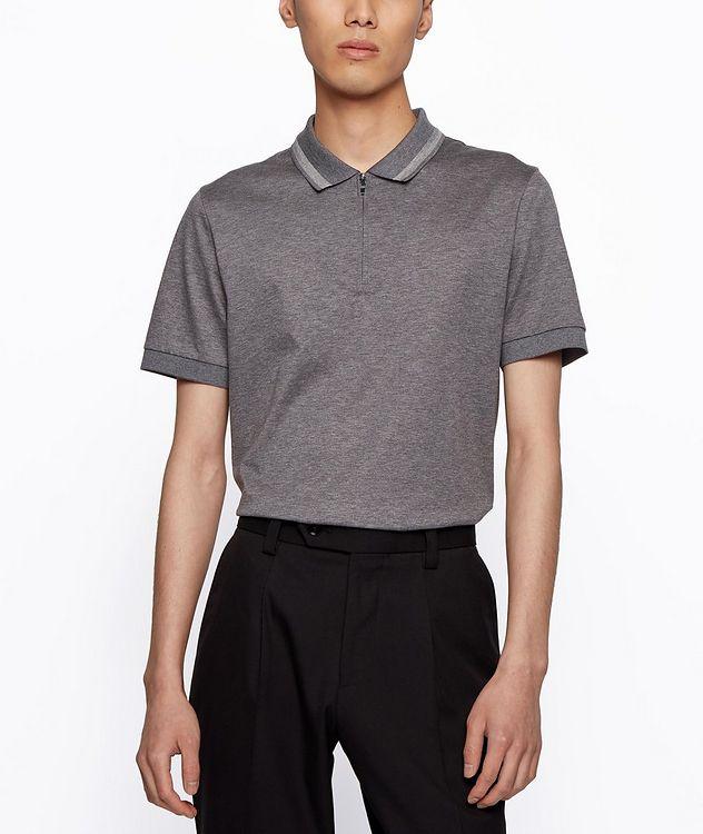 Half-Zip Slim Fit Cotton Polo picture 3